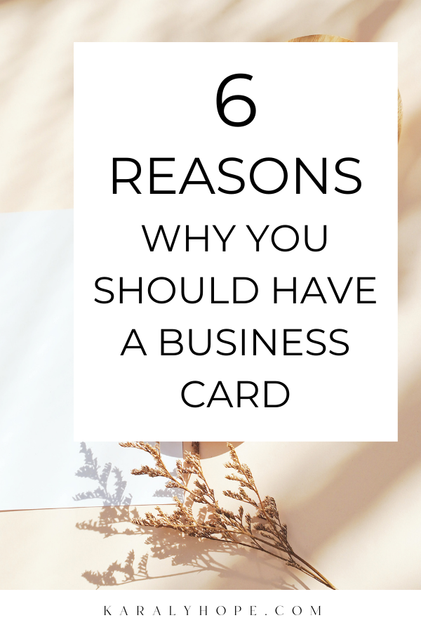 6 reasons why business card