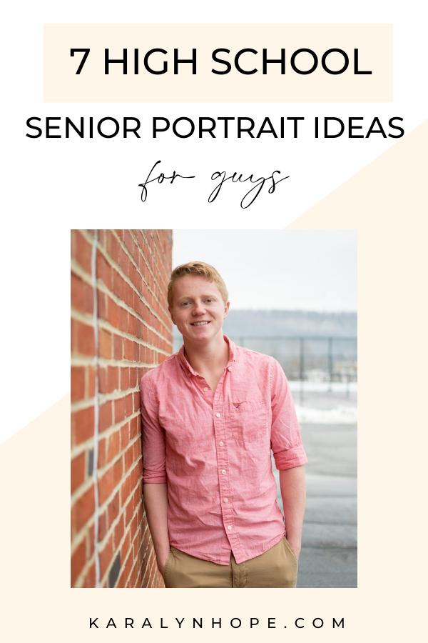 High school senior guys photo session ideas
