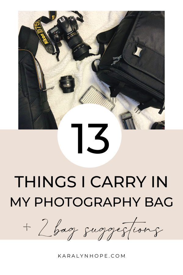 13 Things To Carry In Your Camera Bag